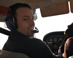William flying a Cessna 172 over Hawke's Bay a few years ago.