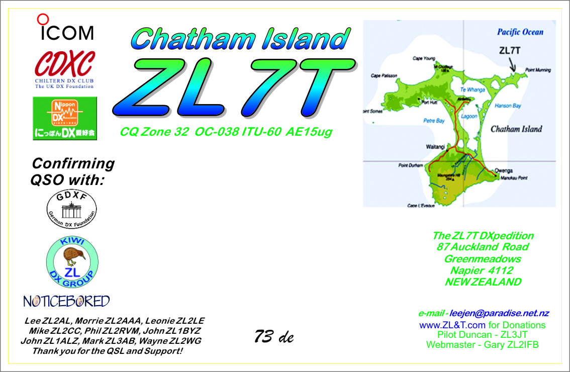 The ZL7T design works very well and is printed with an Inkjet and QSL info with the Canon Laserjet.
