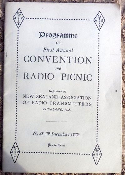 Programme front cover from 1929