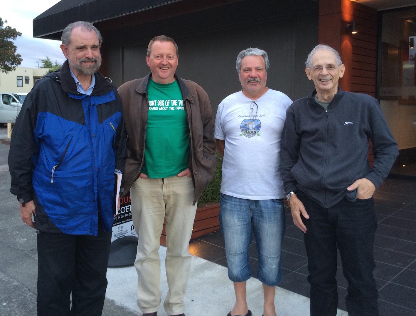 Left to Right: Bob KK6EK, Gary ZL2IFB, Jackie ZL3CW/F2CW and Lee ZL2AL
