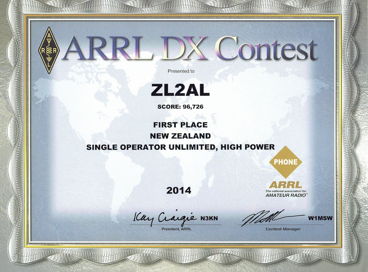 The ARRL International DX Contest is on every February and attracts entries from all over the world